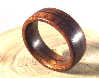mens ring wooden ring mens wood ringwood ring koa wood ring - Wood Wedding Ring