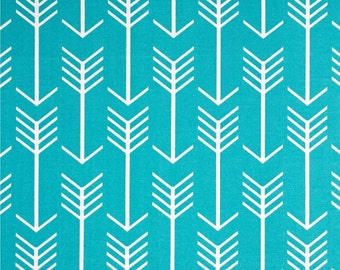 Turquoise Arrow Fabric by the Yard Designer Indoor Outdoor Fabric Curtain Fabric Cushion Fabric Upholstery Fabric Home Decor Fabric B433