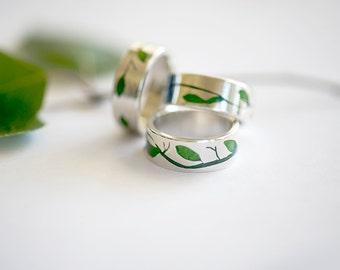 Birch rings, silver
