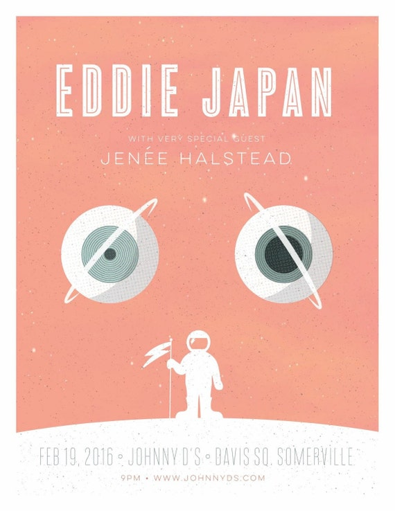 Eddie Japan gig poster  // Johnny D's Somerville