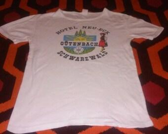 German Vintage T-Shirt Souvenir Soft Europe Trip Tourist