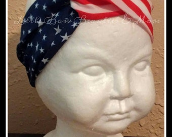 Sale!!!!! 4th of July Patriotic Infinity Headband for girls & women