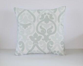 Artichoke Pillow Cover- Sea Foam Green Contemporary Decorative Couch Pillow 18x18- Ready to Ship