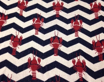 Lobster Zig-Zag Eco-Cotton Throw Blanket