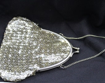 Vintage 1990's Sequined Coin Purse