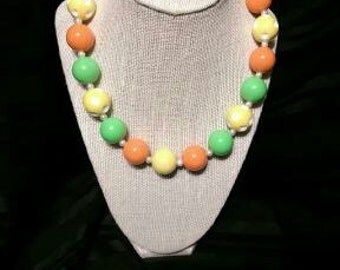 Bubblegum Necklace in Yellow, Green and Orange