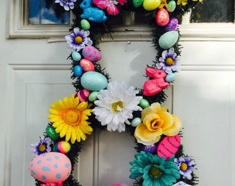 Easter Bunny Wreath /Large/Spring Wreath