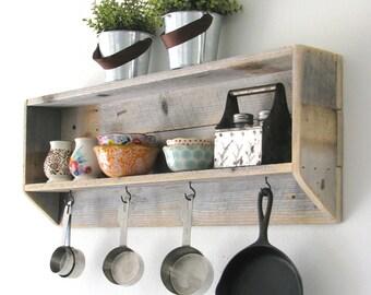 SALE Handmade shelf for tea, coffee, utensils, etc.