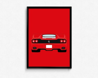 Ferrari F50 A3 Print