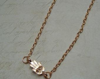 Hand of Fatima-Hamsa gold chain gold