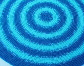 Rug Crochet Rug Area Rug Crochet Floor Round Rug Crochet Round Area Rug Hand Crocheted Rug Olga Andrew Designs