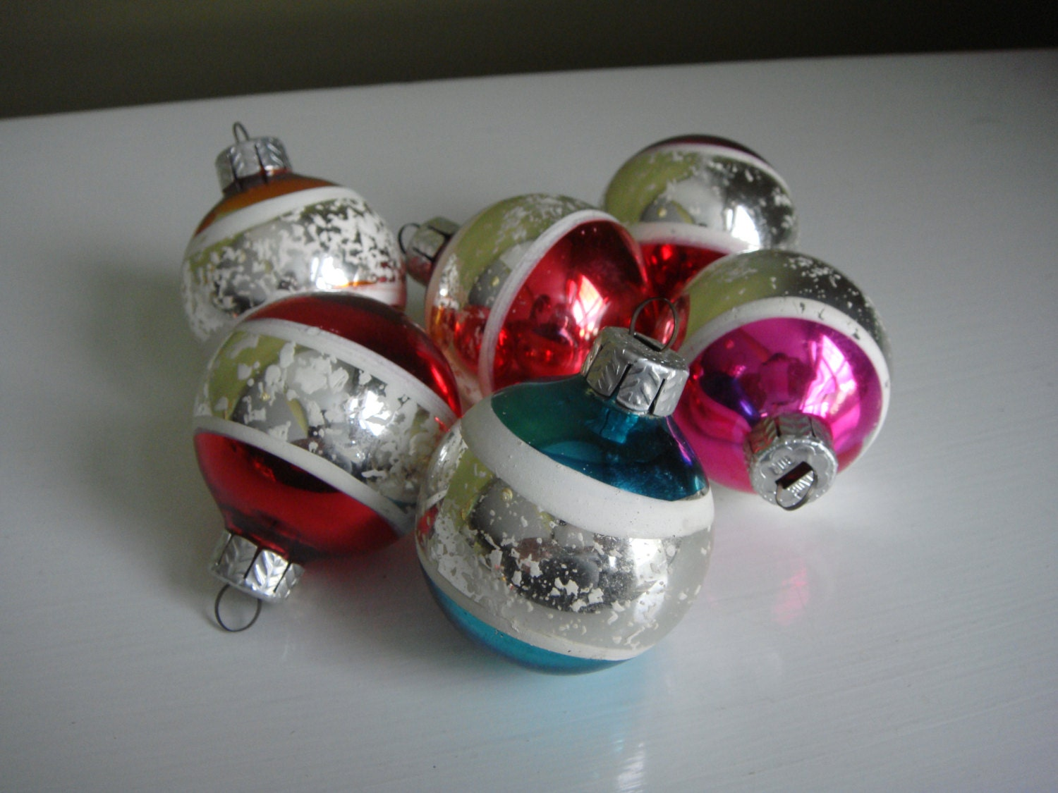 Vintage Christmas Ornaments Made in GDR East Germany Set