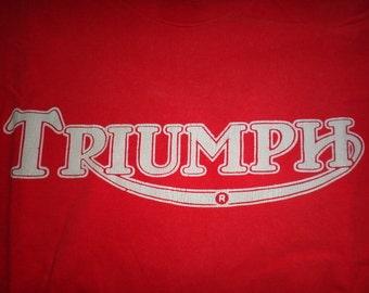 Vintage 1990s Triumph Motorcycle T Shirt
