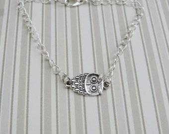 Silver Owl Bracelet - Ready to Ship