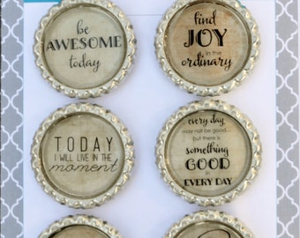 Positive Affirmation Wine Charms