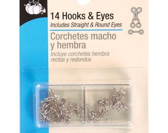 Dritz 14 Hooks & Eyes Size 0