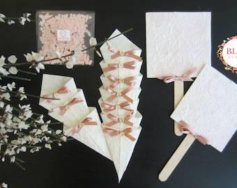 Wedding Ceremony Kit brings rice Cones, fans and confetti
