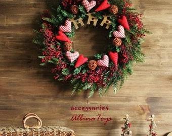Large Christmas wreath in berries the Moose Interior. diameter 52 cm