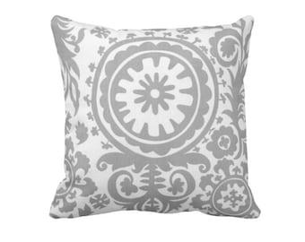 SALE | 50% OFF: 18x18 Pillow Cover Grey Pillow Cover Gray Pillow Grey Throw Pillow Cover Suzani Pillow Paisley Pillows Decorative Pillows