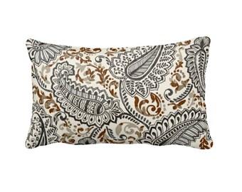 Brown Pillow Sham Brown Pillow Cover Brown Throw Pillow Cover Brown Lumbar Pillow Brown Paisley Pillow Brown Decor Decorative Pillows