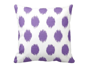 Purple Throw Pillow Cover Decorative Pillows for Couch Cushion Polka Dot Pillow Purple Pillow Cover Purple Ikat Pillow Lavender Pillow Cover