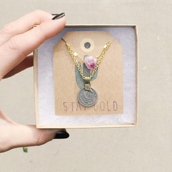 Dainty Mineral Layering Necklace