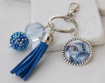 Owl Key Chain, Owl Keychain, Owl Key Ring