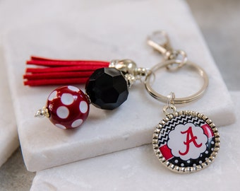University of Alabama Key Chain, Roll Tide, Bama, Houndstooth, Game Day Key Chains, College Gifts, Alabama Key Chain, Graduation Gifts