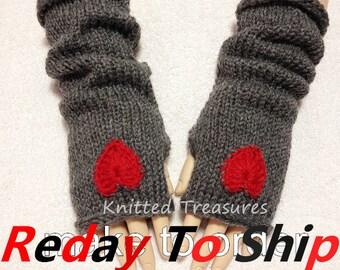 Wool Blend Fingerless Gloves Arm Warmer