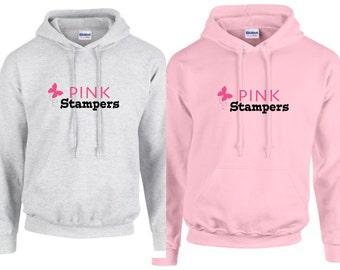 Pink Stampers Team Hoodie w/bling