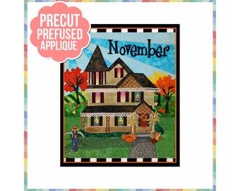 Holiday Houses: November - Laser Cut Pre Fused Applique Quilt Kit