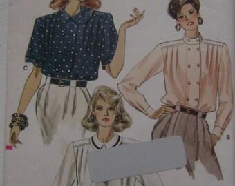 VINTAGE Vogue Pattern V7361 Misses' / Miss Petite Blouse