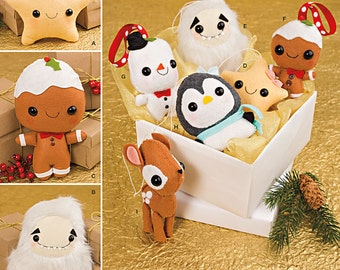 Simplicity Pattern 8035 Stuffed Animals and Ornaments