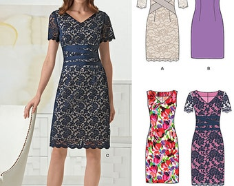 New Look Pattern 6261 Misses' classic sheath dress