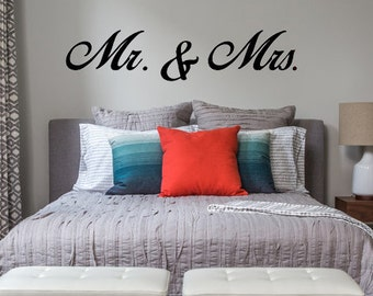 Mr. & Mrs. LARGE wall decal