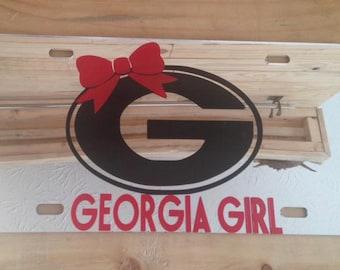 Georgia Girl Car Tag
