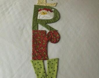 """MERRY Christmas Table Runner   10"""" x 50"""""""