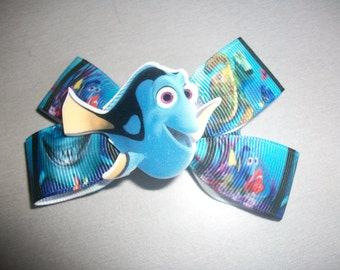 dory finding nemo kids adult hairbow pigtail crocodile clip handmade ready to dispatch