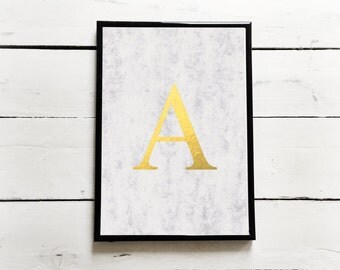 Personalised Letter Marble / Foil Print - A4 / A5