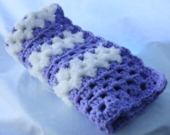 Purple Handmade Crochet Car Seat Baby Blanket - Baby Blanket - Winter Blanket - Super Soft - Baby Shower Gift