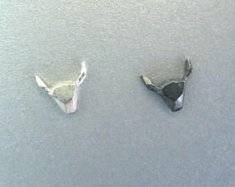 Geometric steer stud earrings