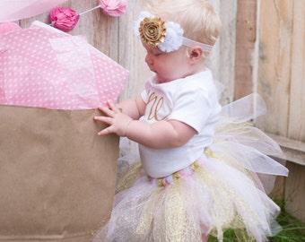 First birthday tutu outfits; Tutu Birthday Outfit; Pink and gold birthday outfit; tutu set; girl tutu outfit; one year ; birthday