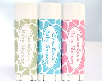 10 Baby Shower Favors, Party Favors, Baby Boy Favors, Baby Girl Favors, Pink favors, Purple Favors, Blue Favors : all natural lip balm