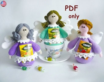 Tea Fairy, amigurumi crochet pattern pdf