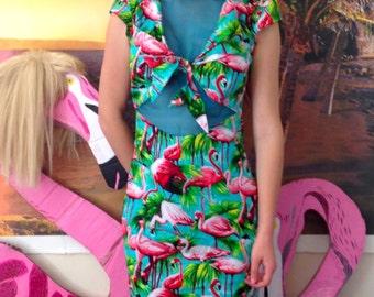Knotted Flamingo Dress