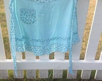 Turquoise apron