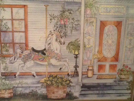 Vintage Framed Watercolor Print Artist Ava By Antiquesbygranny
