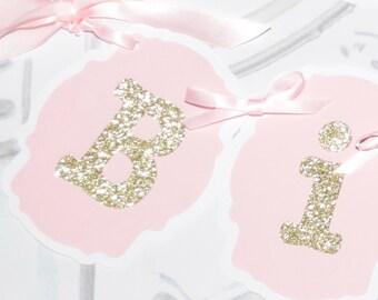 Custom Banner for pink and gold celebration