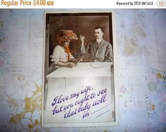 on sale Antique Humorous Love Postcard