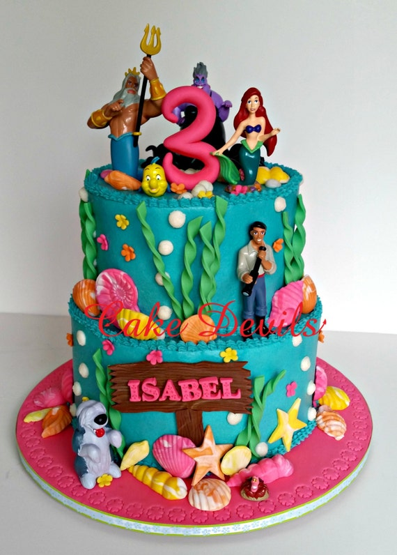 Under The Sea Ocean Life Fondant Cake Toppers Mermaid Fondant